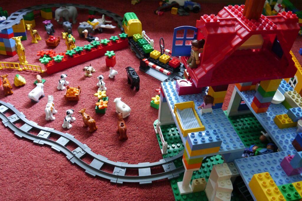 lego, children's room, rails